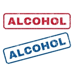 Alcohol rubber stamps vector
