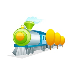 Icon train vector