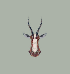 Sign abstract head of african antelope bles vector
