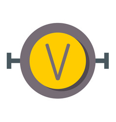 High voltage icon on rounded square button vector