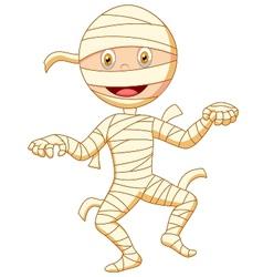 Mummy cartoon walking vector image