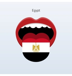 Egypt language abstract human tongue vector