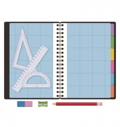 graph paper notebook vector image