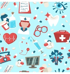 Hospital seamless pattern vector
