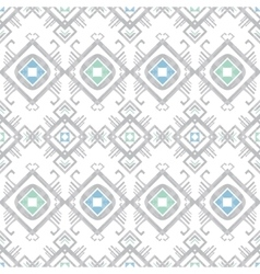 Grey blue tribal geometric seamless pattern vector