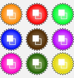Active color toolbar icon sign a set of nine vector