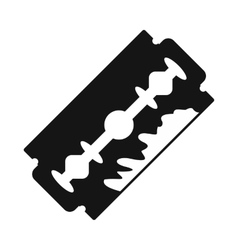Razor blade icon black simple style vector