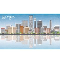Las vegas skyline with gray buildings vector