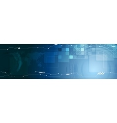 Abstract technology web header banner vector