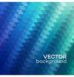 Abstract background made up of blue triangular vector