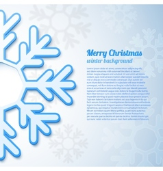 Abstract snowflake background vector image vector image