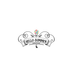 badge as part of the design - summer sticker vector image vector image