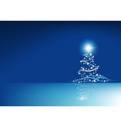 Blue Christmas Abstraction vector image