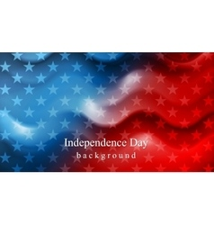 Bright wavy Independence Day background vector image vector image