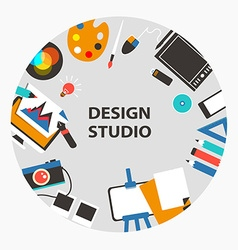 Design studio emblem vector image