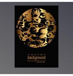 golden sphere vector image vector image