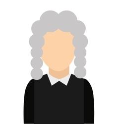 Judge avatar isolated icon vector