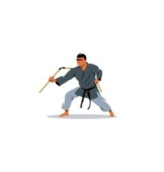 Kobudo japanese martial arts sign vector image vector image