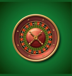 las vegas casino roulette wheel isolated vector image vector image