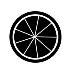 lemon citrus fruit icon vector image
