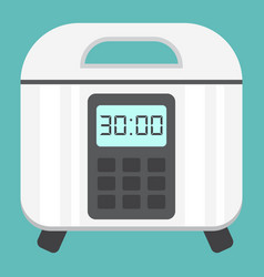 Multicooker flat icon kitchen and appliance vector