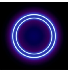 Neon abstract round vector image