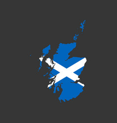scotland flag and map vector image vector image