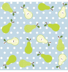 Seamless pear background vector image vector image