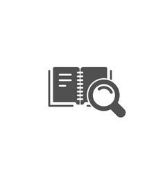 search in book simple icon education symbol vector image