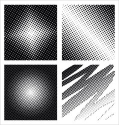 Set of different abstract halftone vector