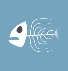 skeleton fish isolated remains of marine animal vector image vector image