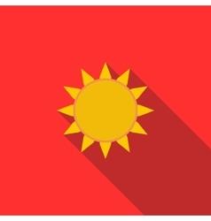 Sun icon flat style vector image