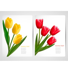 tulip banners vector image vector image