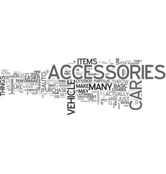 What types of auto accessories do you want text vector