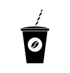 Disposable coffee cup design vector