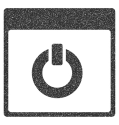 Switch on calendar page grainy texture icon vector