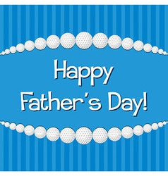 Golf theme happy fathers day card in format vector