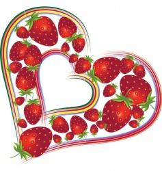valentines day with strawberries vector image