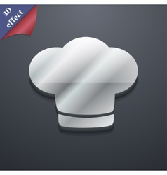 Chef hat icon symbol 3d style trendy modern design vector