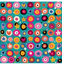 Fun pattern 3 vector