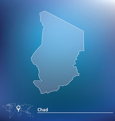Map of chad vector