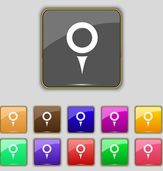 Map pointer gps location icon sign set with eleven vector