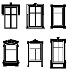 Old windows vector image