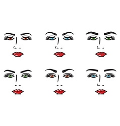 Eyebrow set vector