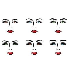 Eyebrow set vector image