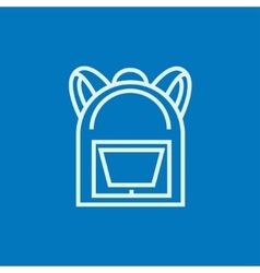 Backpack line icon vector image