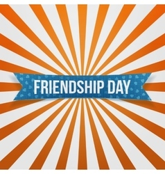 Friendship day curved festive banner vector