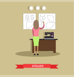 atelier concept in flat style vector image