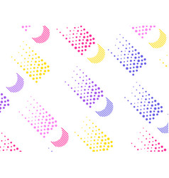 Background with a flat geometric design with dots vector
