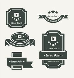Banner And Ribbon Design black color vector image
